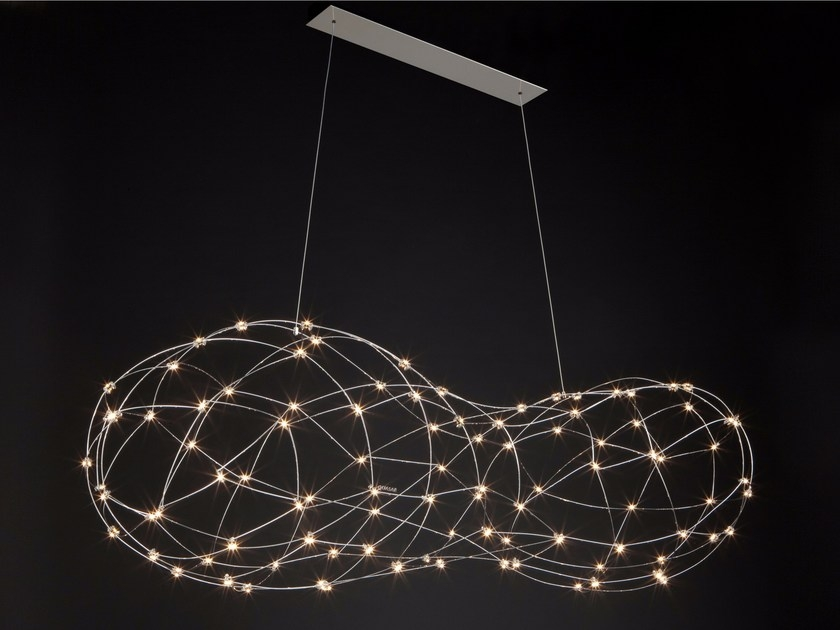 Quasar – Cloud 100 LED dimbaar hanglamp Messing | 7436913573585