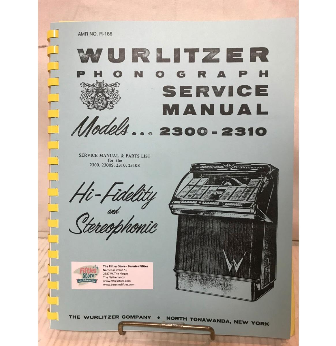 Wurlitzer 1900 Jukebox Service Manual